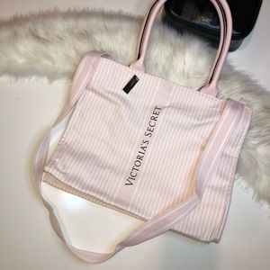 Victoria's Secret double strap Stripped Tote